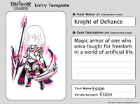 Cosmetic Design Contest-Knight of Defiance Series 001 Entry