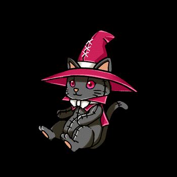 Gear-Black Sorcerer Cat Render