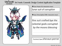 Cosmetic Design Contest-lunar suit of corruption Entry