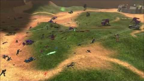 Halo Combat Evolved - Marines Vs Covenant on Blood Gulch