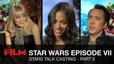 Star Wars Episode 7 Movie Stars Talk - Part 2