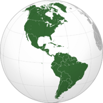 Americas (orthographic projection)