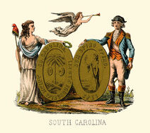 South Carolina state coat of arms (illustrated, 1876)