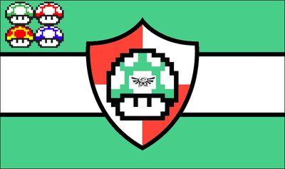 Mushroom kingdom flag 1899-present
