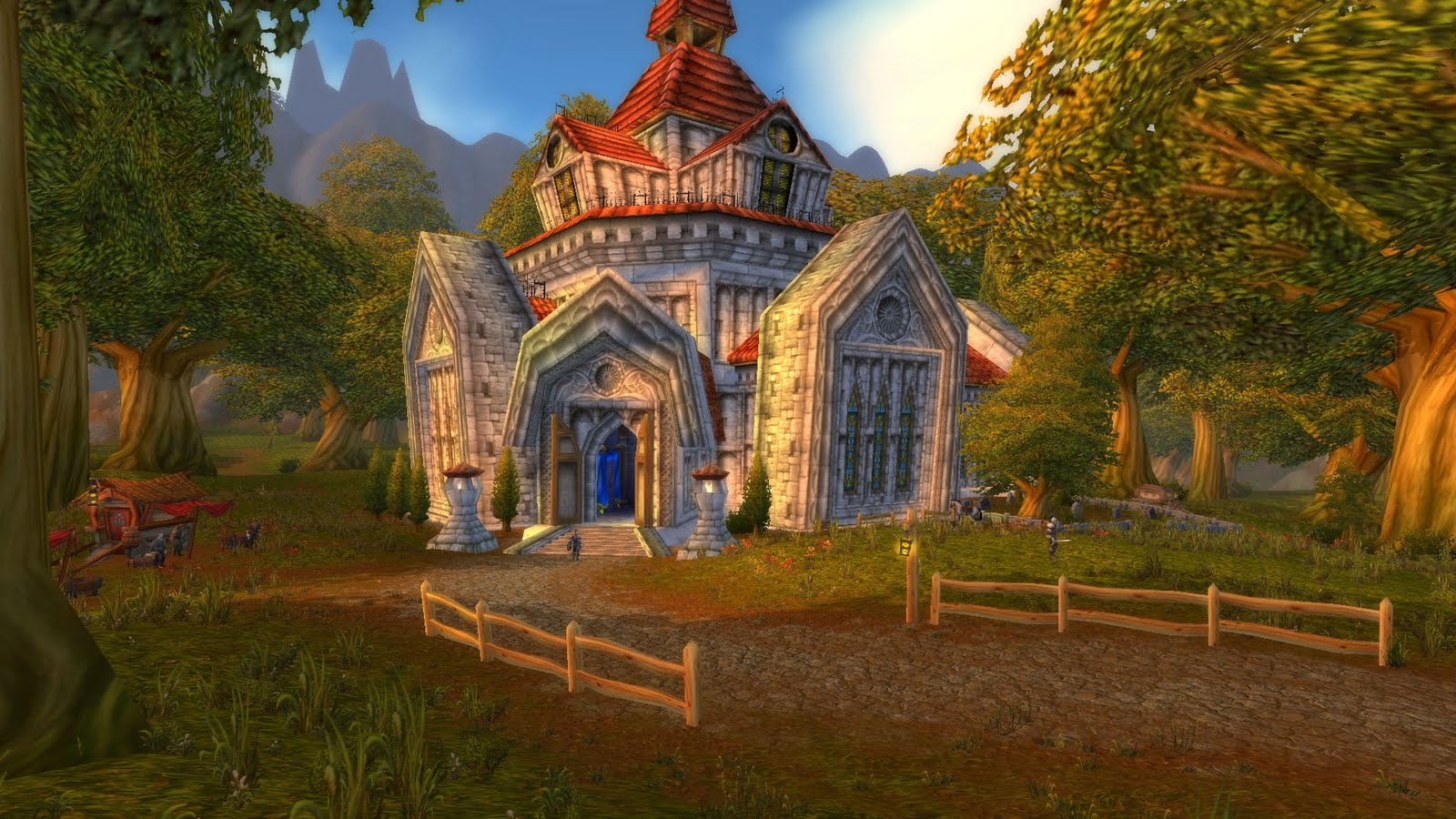 Human Starting Zone in World of Warcraft (Northshire Abbey)