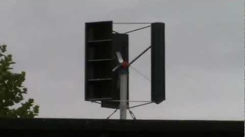 Eigenbau Windrad mit Generator homemade vertical axis wind turbine VAWT