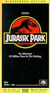 Jurassic Park (1993) Widescreen Edition VHS Cover