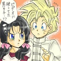 Young Videl meets Gohan in Cell Games Saga