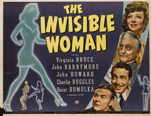 Theatrical release poster of The Invisible Woman