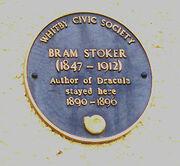 Bram Stoker Plaque Whitby England