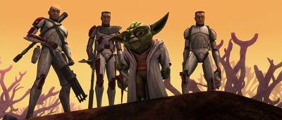 Yoda, Rys, Thire, and Jek