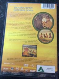 Watership Down 2001 UK DVD Back