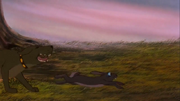 Watership Down Dog Chases Rabbit