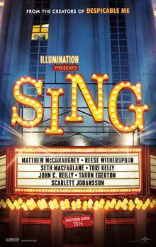 Sing (2016 film) poster