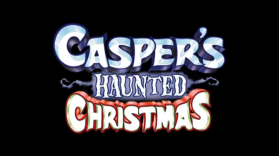 Caspers haunted christmas title card