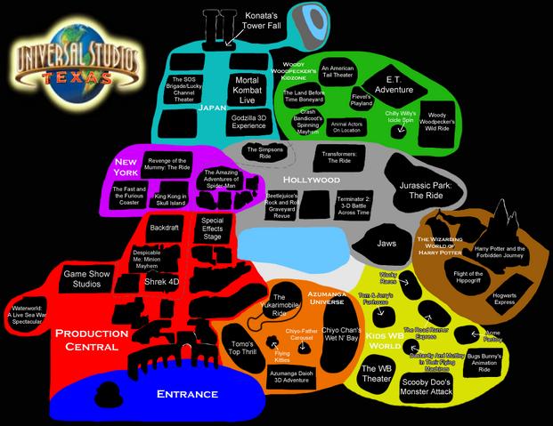 File:Universal Studios Texas Map.png