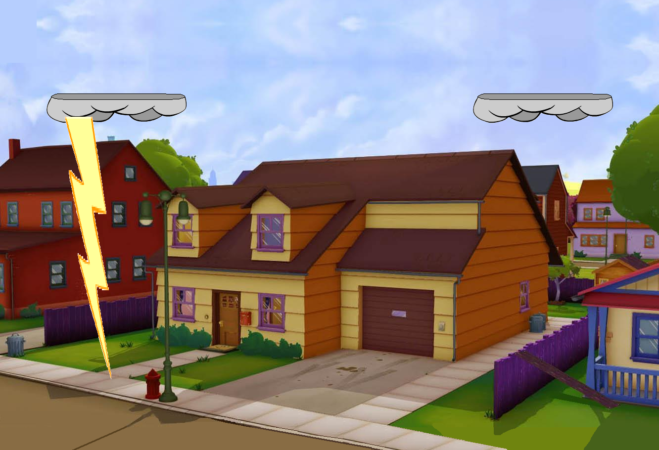 Image - Garfield\'s House redo With lightning 2.PNG   Universe of ...