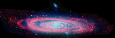 Andromeda Galaxy Spitzer