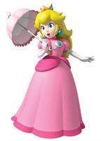 Princess peach with parasol by peachfan25-d3a12na
