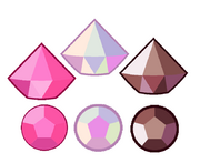 Pink Diamond Gemstones by Galaxy agate