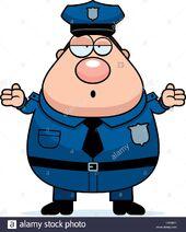 Una-caricatura-ilustracion-de-un-oficial-de-policia-buscando-confundido-hxnb4t