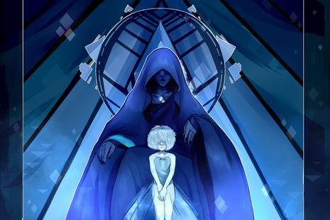 Blue diamond and her pearl steven universe by kitsunezakuro-d9n6mis