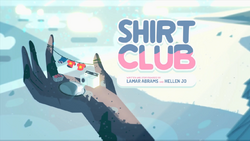 Shirt Club Card Tittle