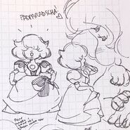 Padparadscha & Fluorite early designs