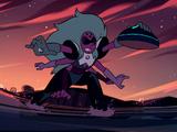 Battle in Aquamarine's Ship / Steven's Sacrifice