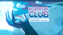 Horror Club Card Tittle