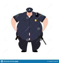 Poli-gordo-policía-grueso-oficial-obeso-police-illustrat-del-vector-129583289