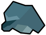 Gema del clsuter mano de siete dedos verde azul