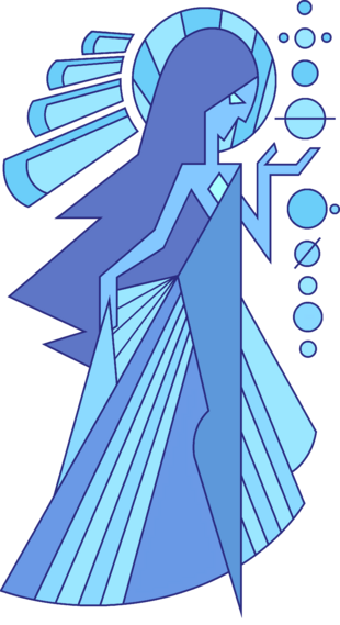 Mural - Blue Diamond