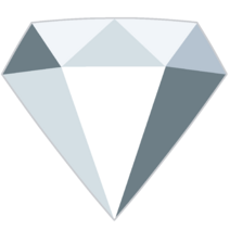 White Diamond Gemstone by RylerGamerDBS