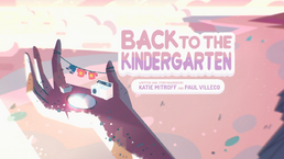 Back to the Kindergarten Tittle Card HD