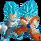 Goku y Vegeta SSJGSSJ Render