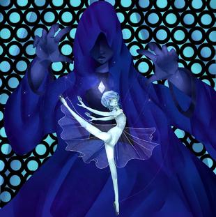 Blue diamond and her pearl by b4biesz-d9nd47q