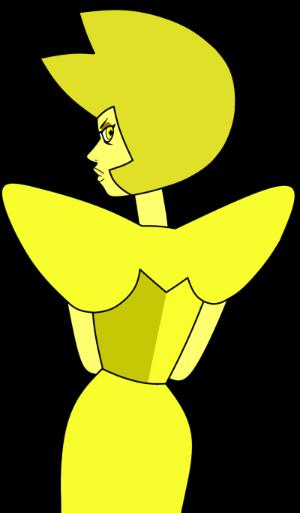 Diamante amarillo de espaldas