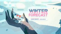 Winter Forecast Card Tittle