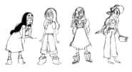 Connie early concept drawing 1