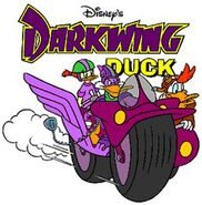 Darkwing Duck logo with characters