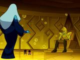 Cuarto de burbujas de Diamante Amarillo