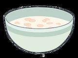 Tazón de cereal con leche