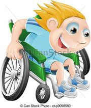 Sillón-ruedas-que-compite-caricatura-clipart-vectorial csp9098580