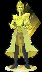 Yellow diamond by deer head-d9n4o6d