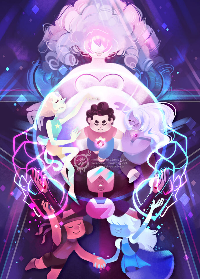 The crystal gems steven universe by mmishee-d8mo7oz
