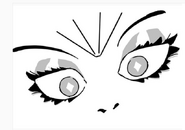 White diamond eyes drawing 2