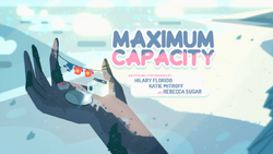 Maximum Capacity Card Tittle