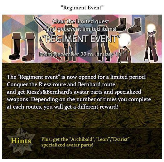 Regiment Event info