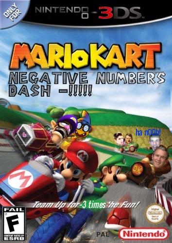 Mario kart negative number dash